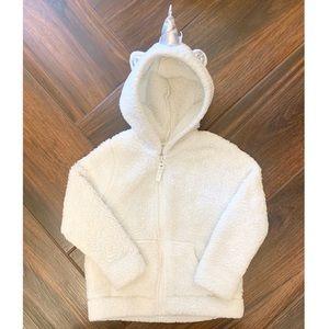Cat & Jack Coat Jacket White Unicorn Size 4T